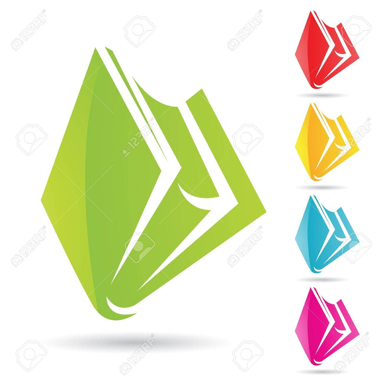 Eps Vector illustration of colorful book icons Stock Vector - 11084290
