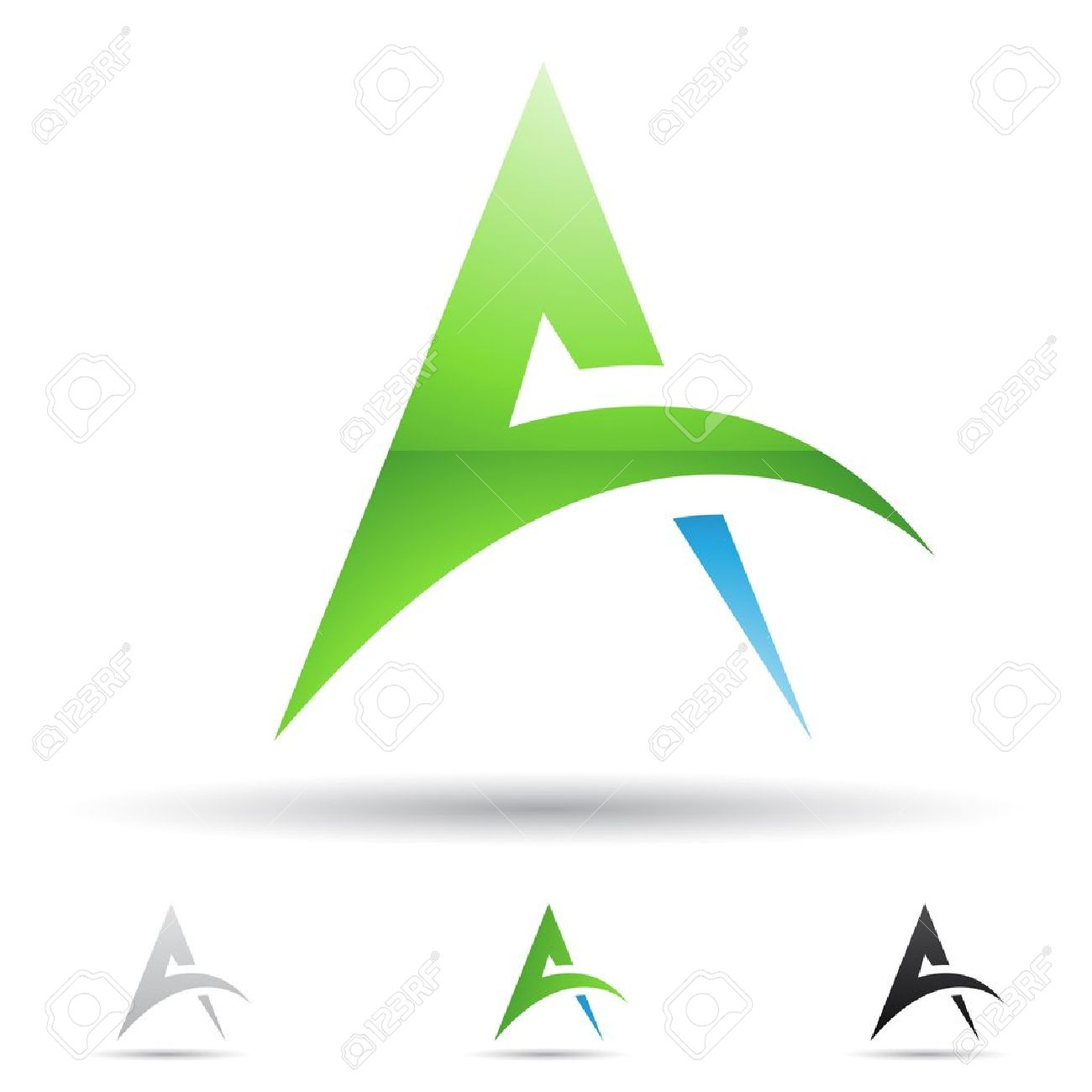 abstract icons based on the letter A Stock Vector - 14594435