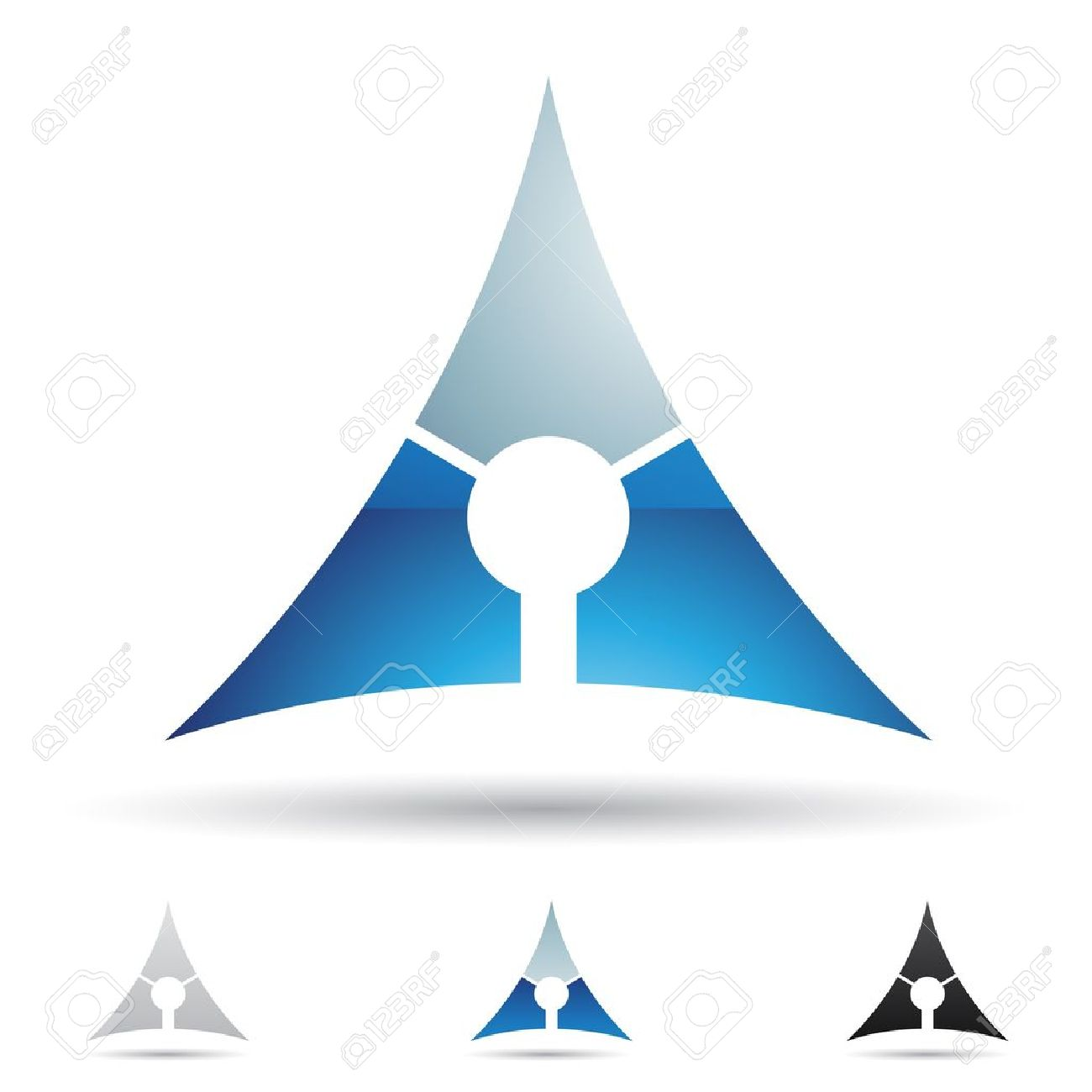 Blue Pyramid Logo Blue Pyramid Abstract Icons