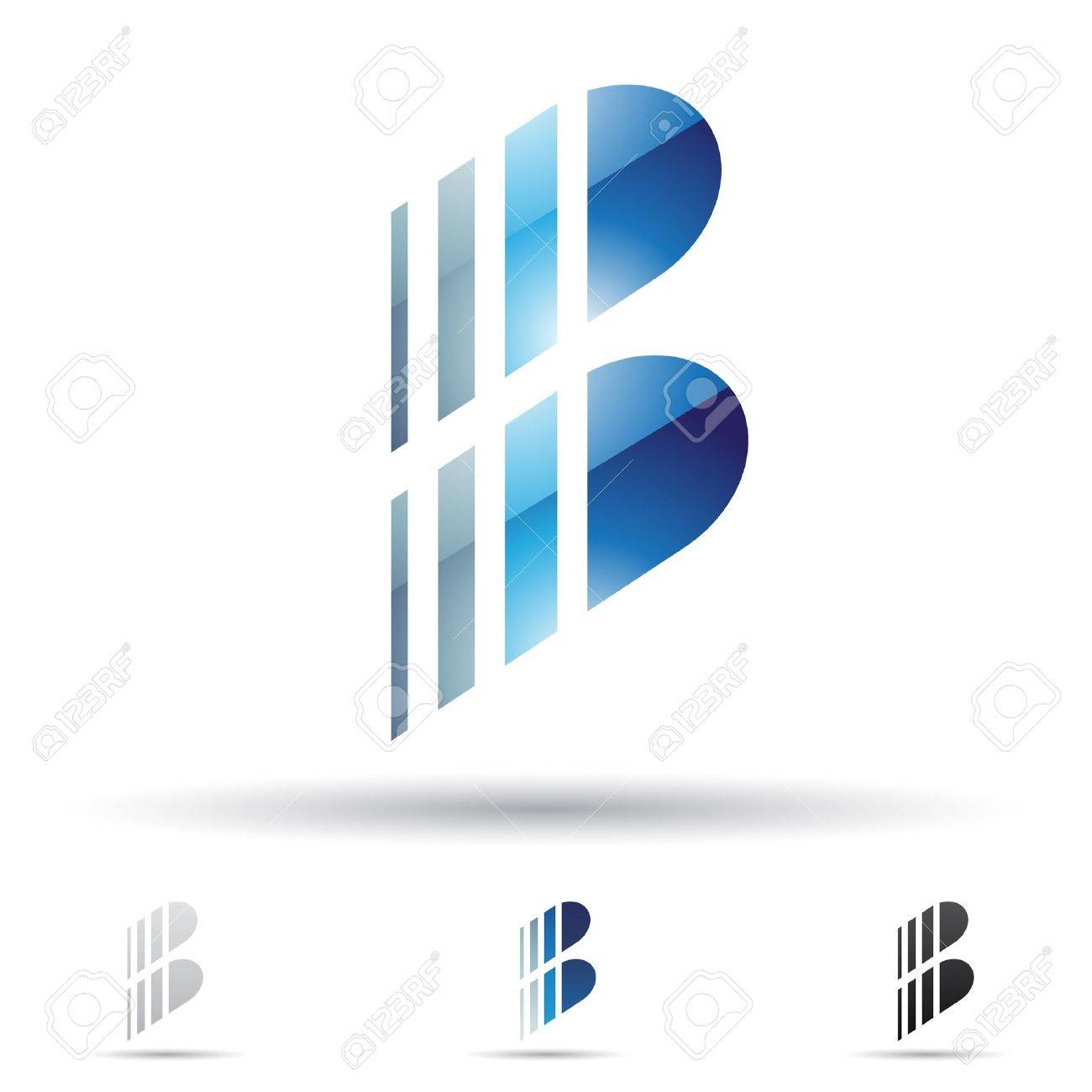 abstract icons based on the letter B Stock Vector - 14594430