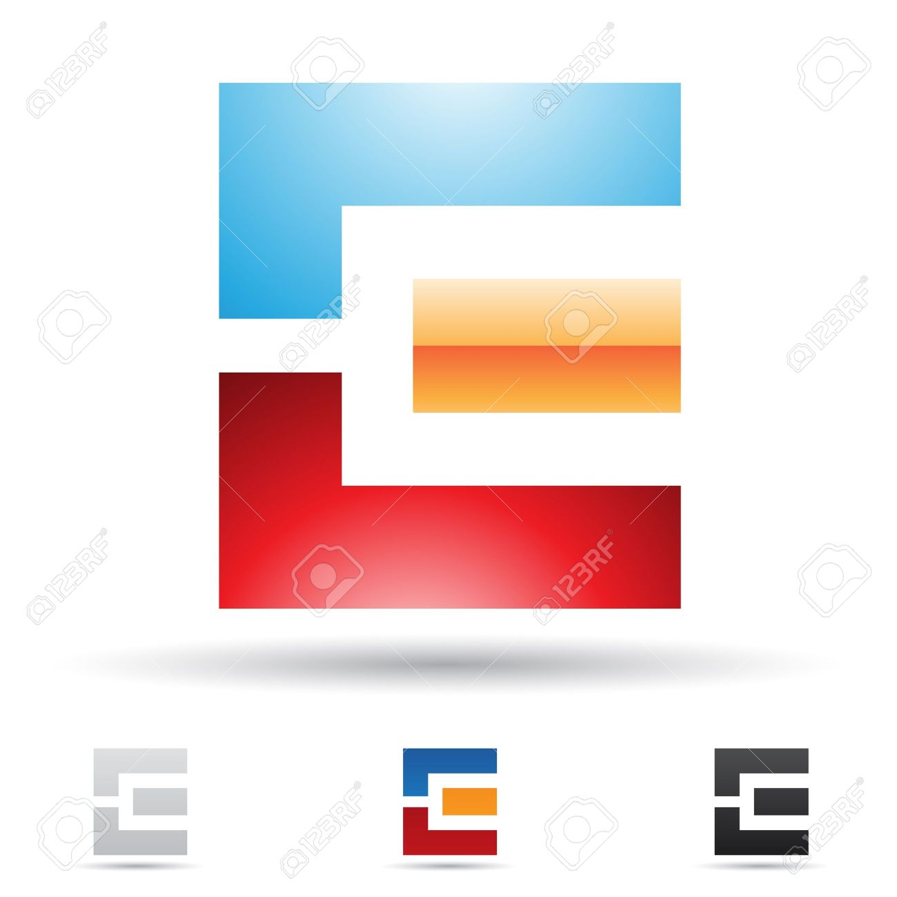 illustration of abstract icons based on the letter E Stock Vector - 14621678