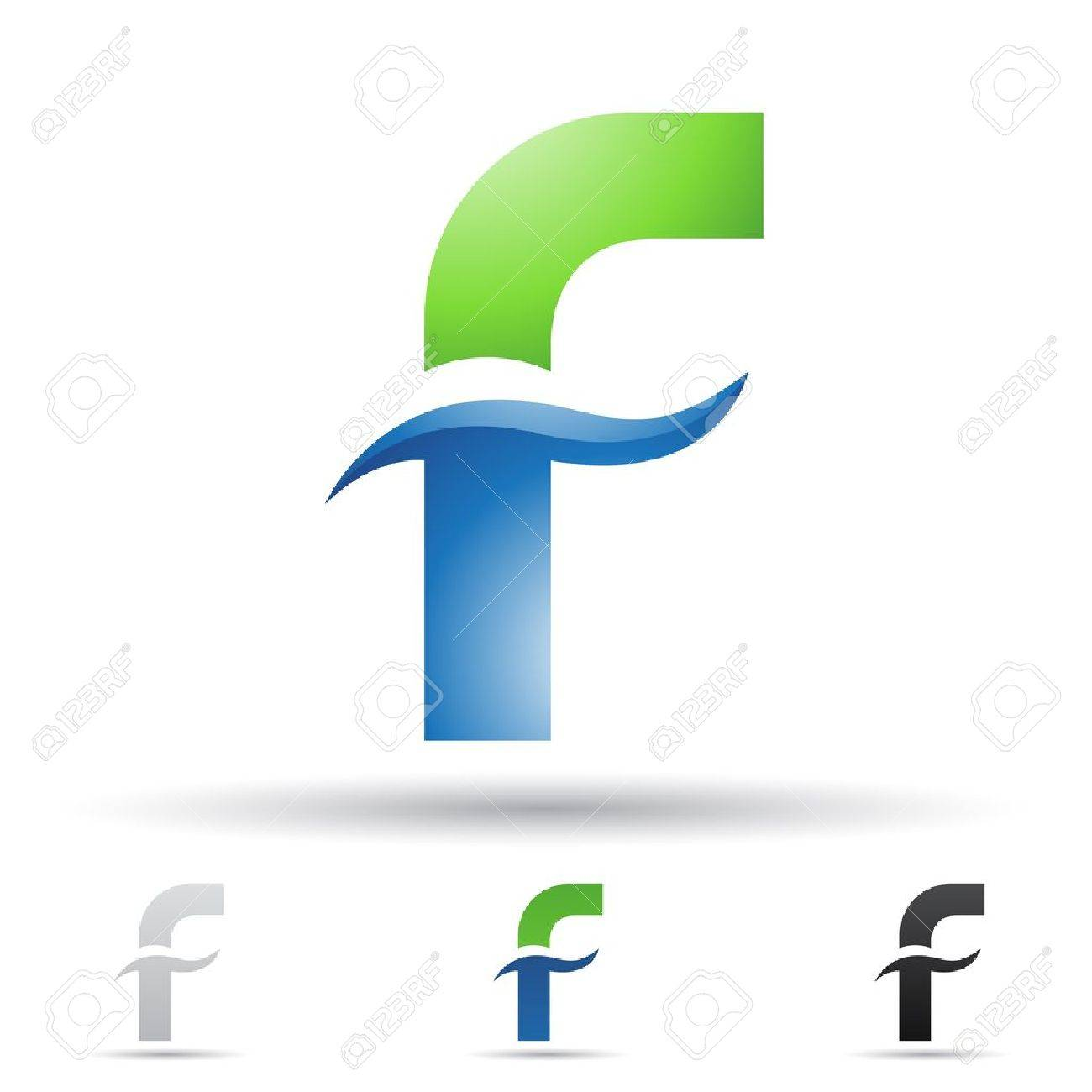 illustration of abstract icons based on the letter F Stock Vector - 14621597