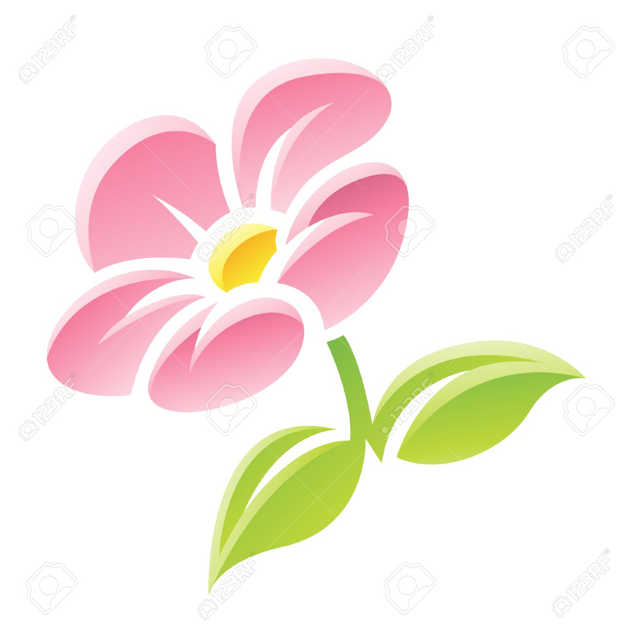 Illustration of pink flower icon isolated on a white background illustration of pink flower icon isolated on a white background stock vector 23638124 dhlflorist Images