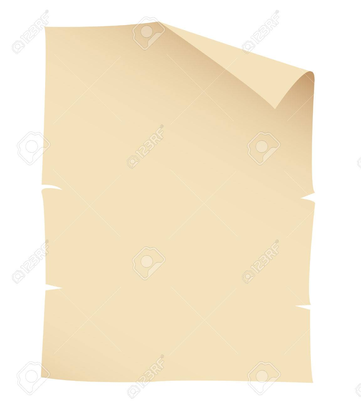 Illustration of Old Paper Banner isolated on a white background - 23637994