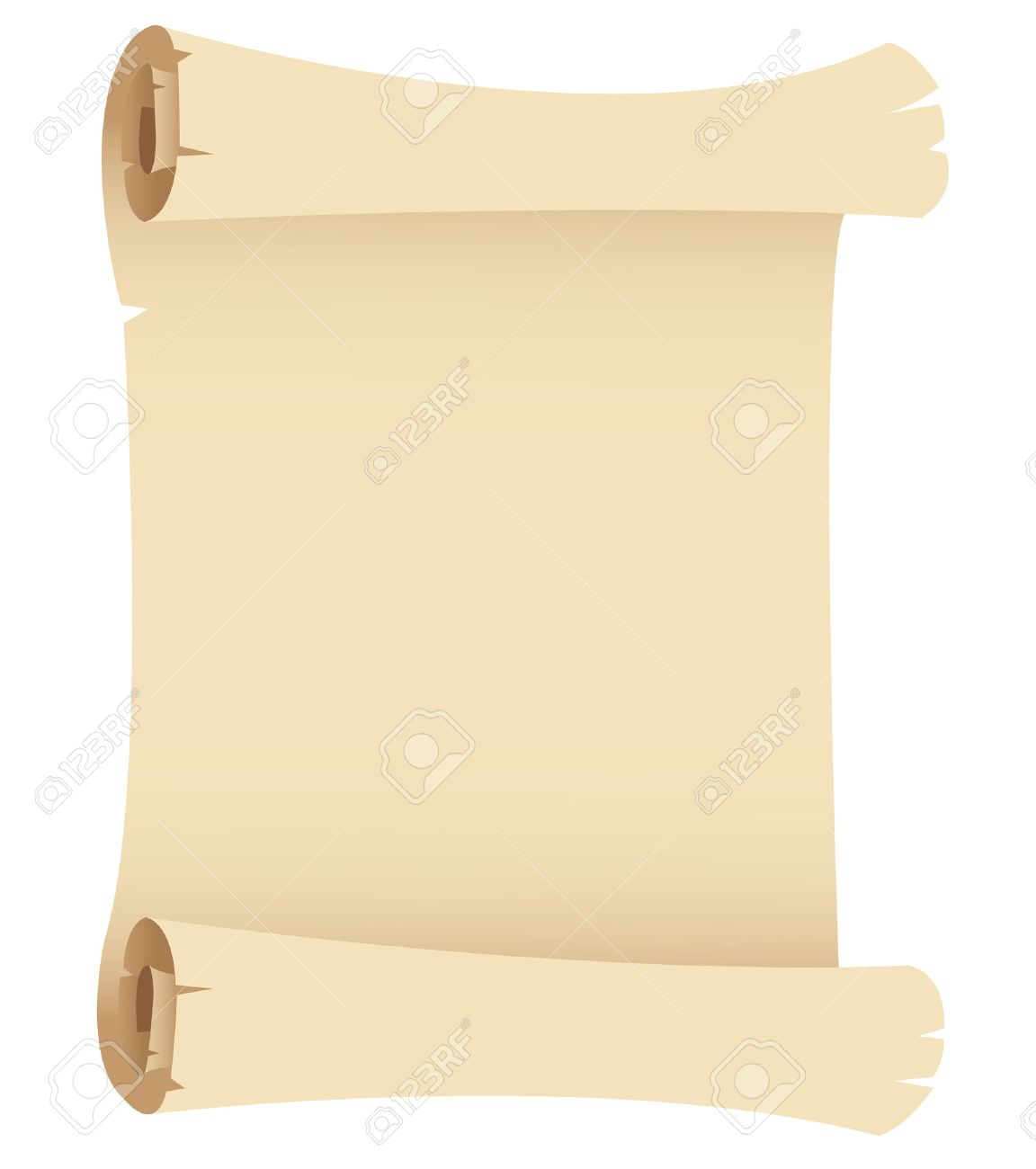 Illustration Of Old Paper Banner Isolated On A White Background ...