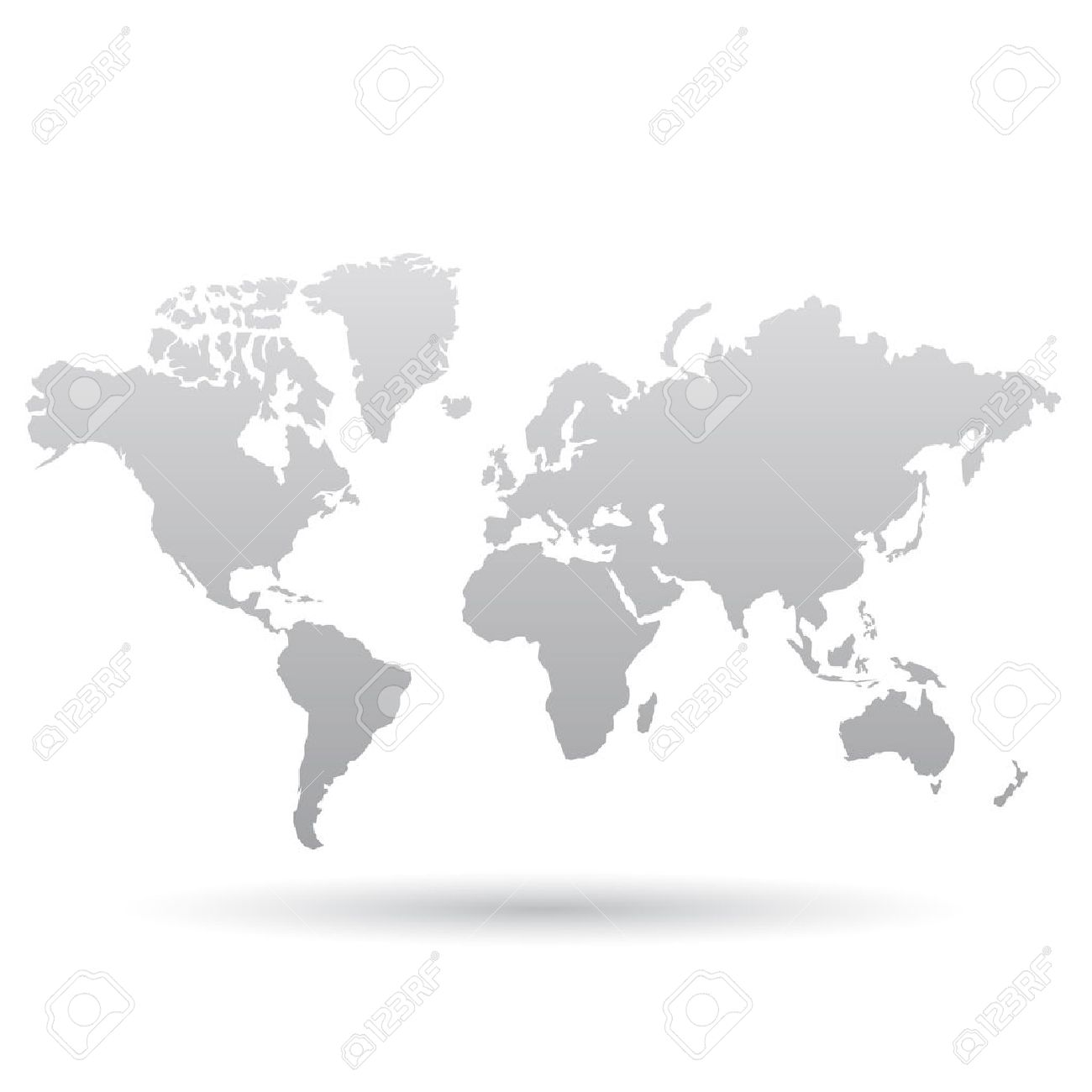 Illustration of gray world map isolated on a white background illustration of gray world map isolated on a white background stock vector 23637803 gumiabroncs Gallery