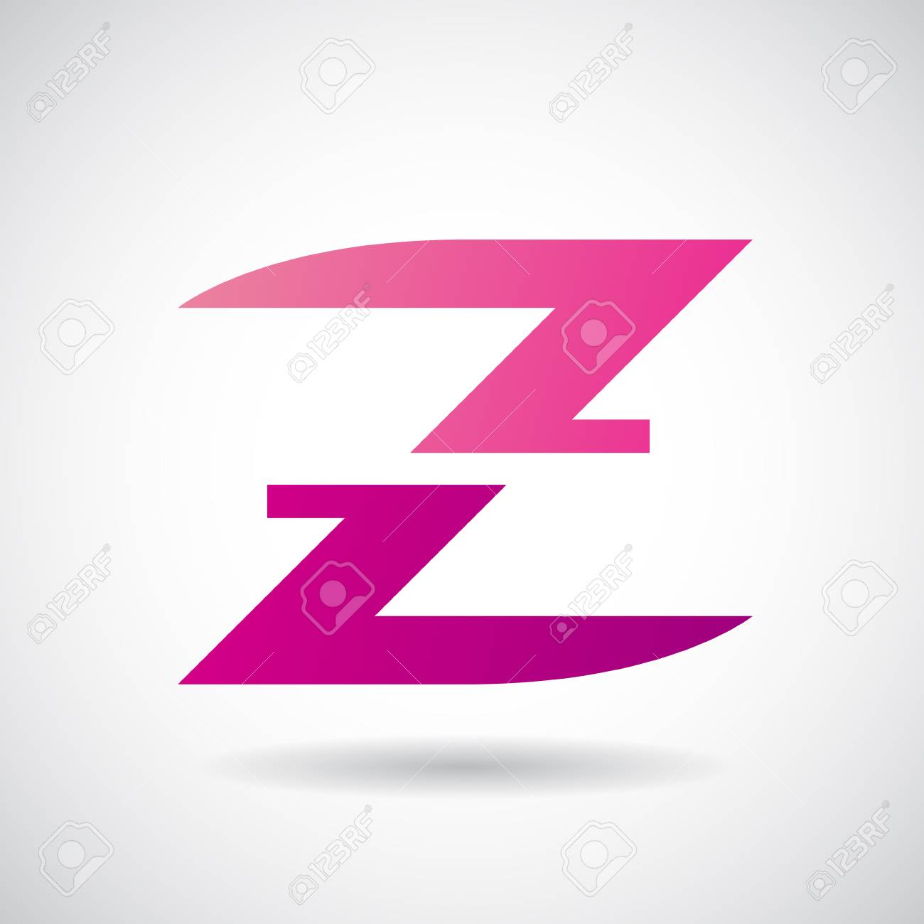 Design Concept Of A Colorful Stock Icon Of Letter Z, Vector ...