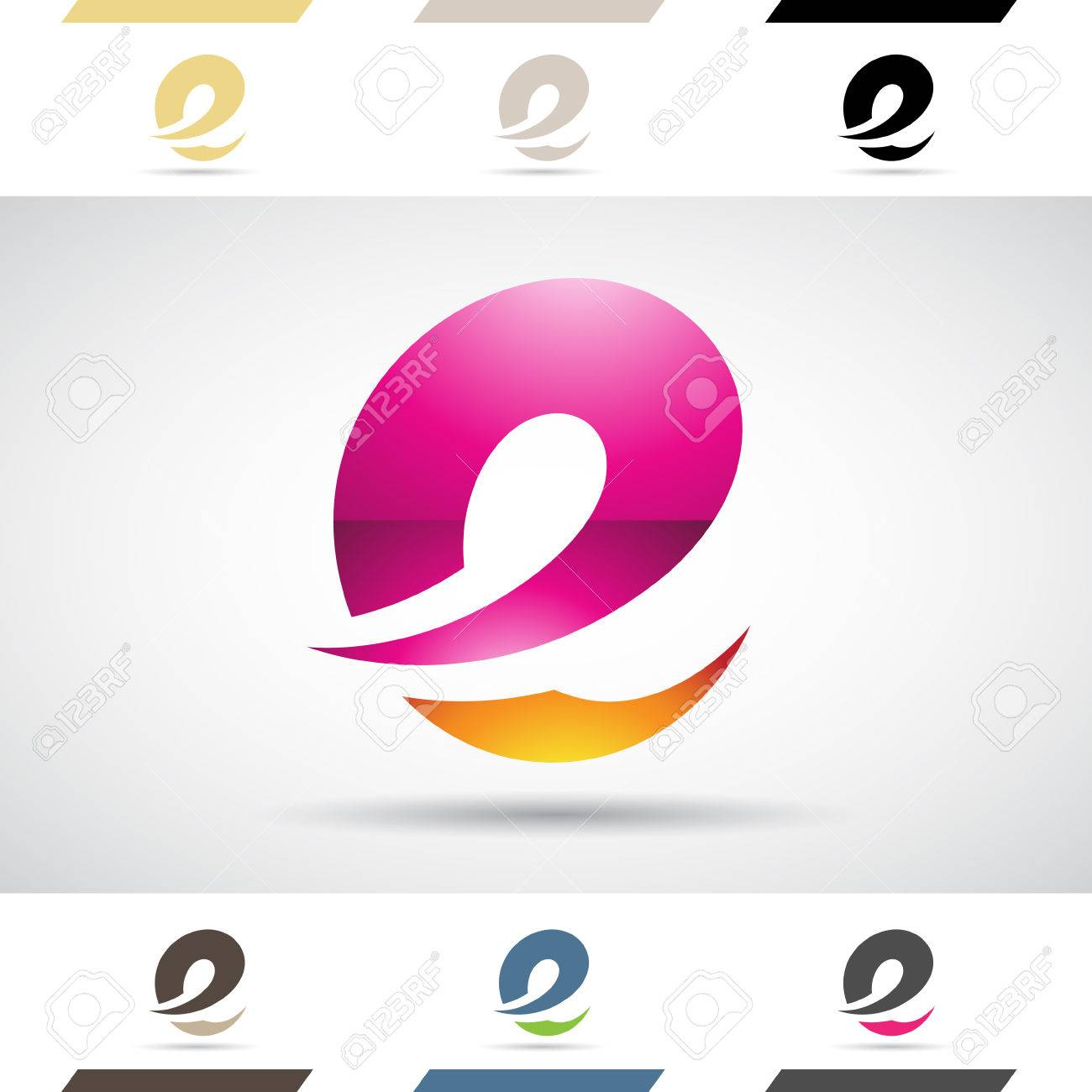 Design Concept Of Colorful Stock Logos Icons And Shapes Of Letter ...