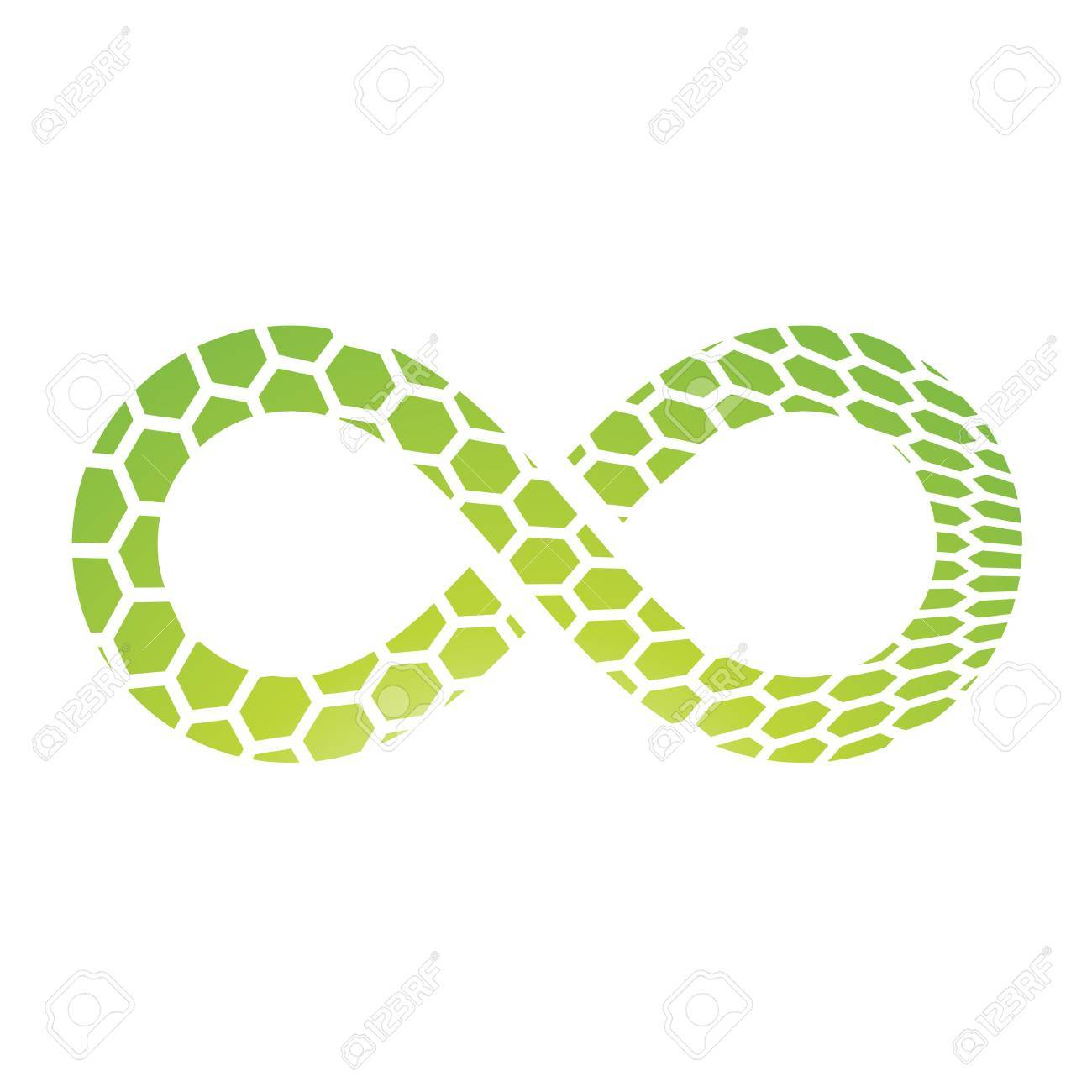 Illustration Of Infinity Symbol Design Isolated On A White