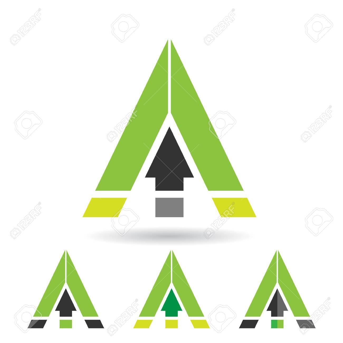 Design-Konzept Für Ein Buntes Abstrakte Dreieckiges Symbol Des ...