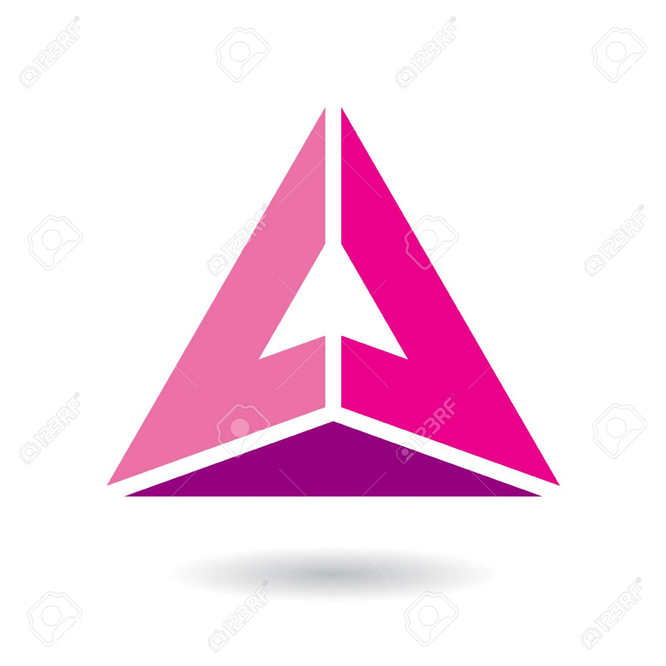 Design Concept Of A Colorful Abstract Triangular Icon Of Letter ...