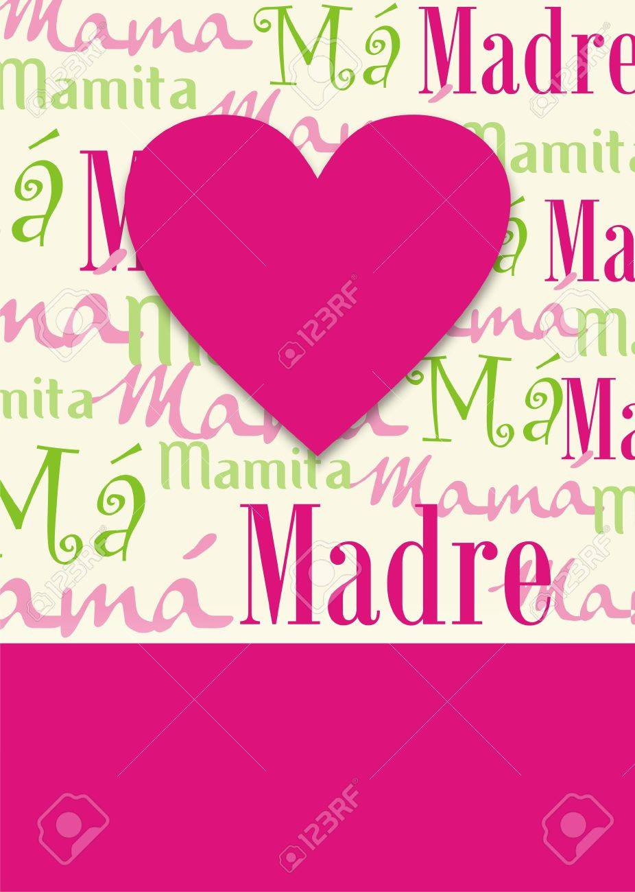 computer generated illustration background of a gretting card for the mother´s day. format available Stock Illustration - 4763480