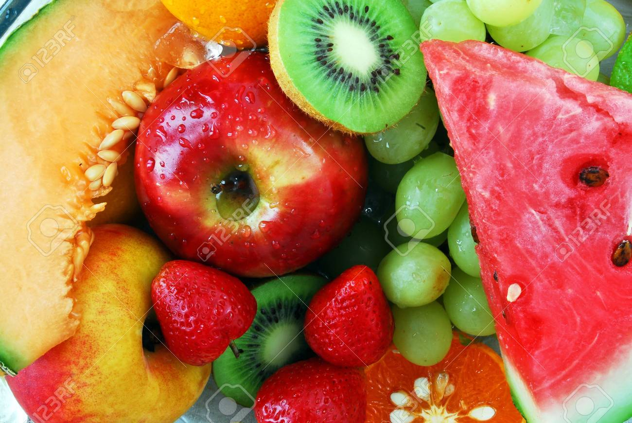 Colorful fresh group of fruits. Stock Photo - 4848146