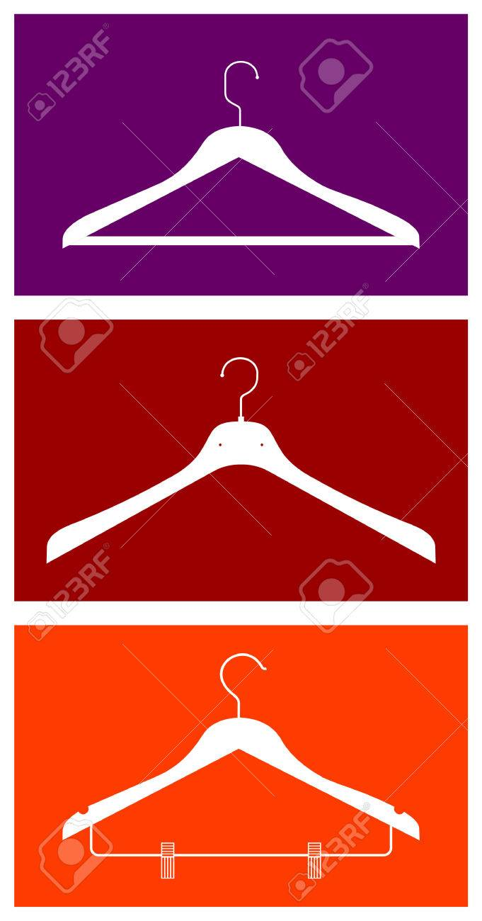 Three clothes hangers. Vector available Stock Vector - 5200712