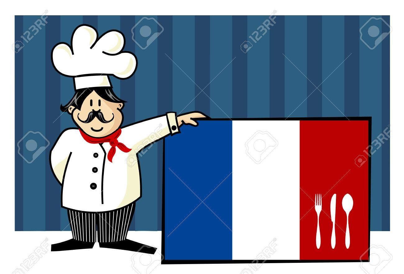 Chef De Cocina Francesa. Alimentos, Restaurante, Diseño De Menú Con ...