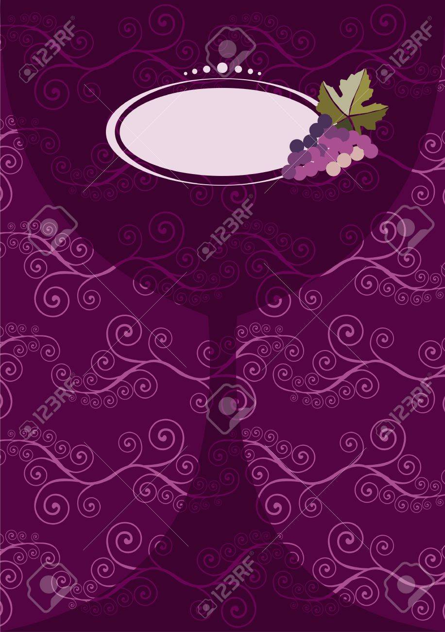 restaurant icon. diffuse wine glass silhouette with grapes on