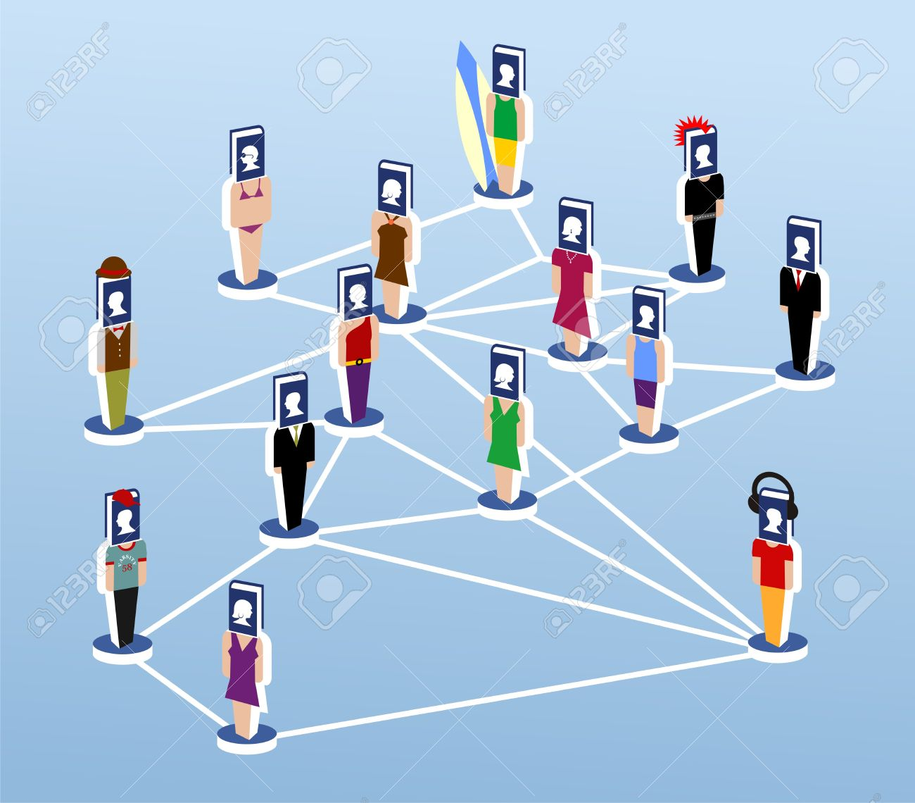 Virtual Community Communicated Through Social Networks Royalty ...
