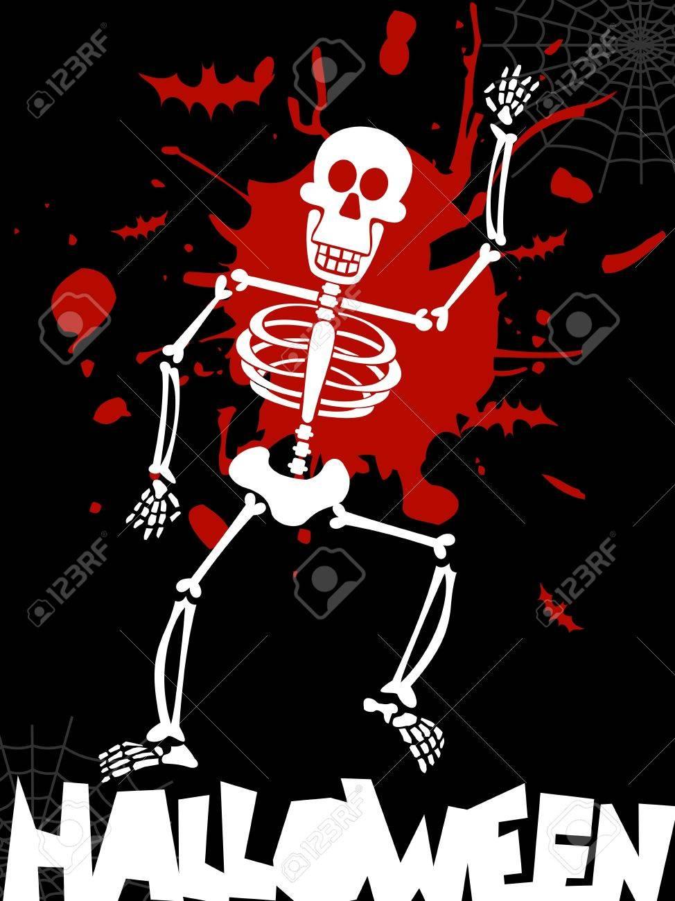 scary dancing skeleton halloween background vector available stock vector 10801138 - Dancing Halloween