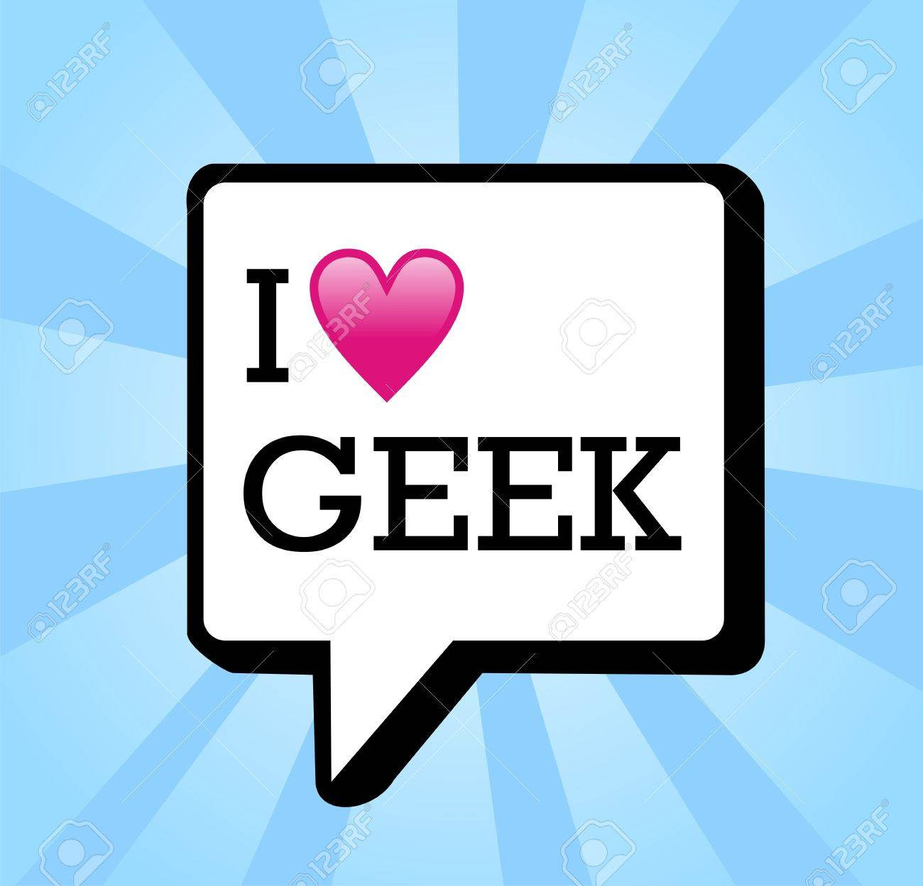 I love geek message in communication bubble background illustration. file layered for easy manipulation and custom coloring. Stock Vector - 13533779