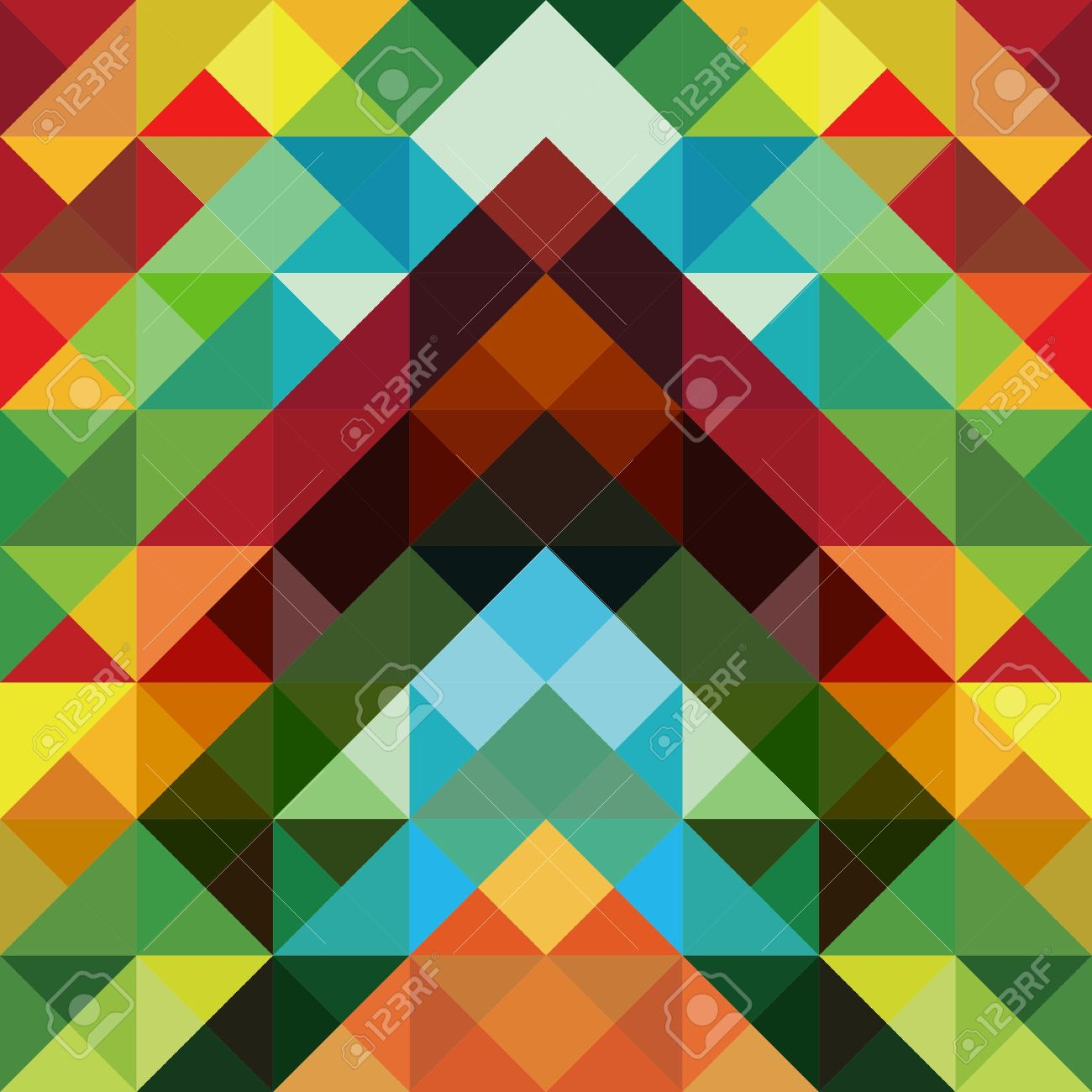 Abstract optic effect colorful triangle pattern background Stock Vector - 14173734
