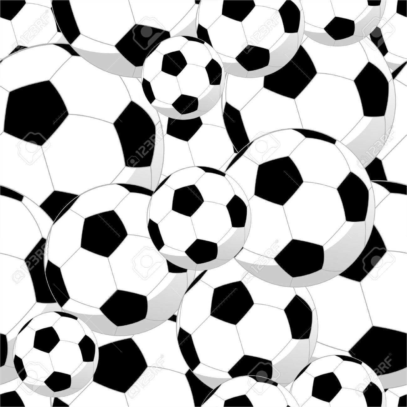 Balones De Fútbol El Deporte Patrón De Fondo Sin Fisuras De Archivo Vectorial En Capas Para La Manipulación Fácil Y Personalizada Para Colorear