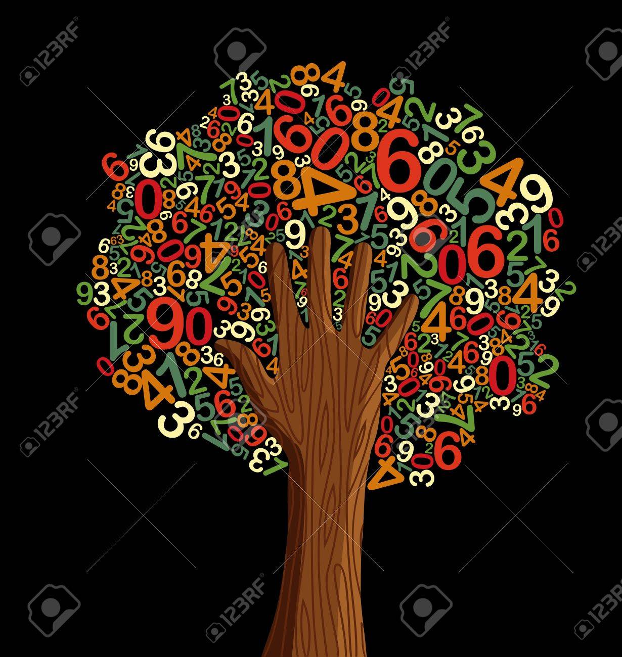 School education concept tree made with letters and human hand. Vector file layered for easy manipulation and custom coloring. Stock Vector - 14777585