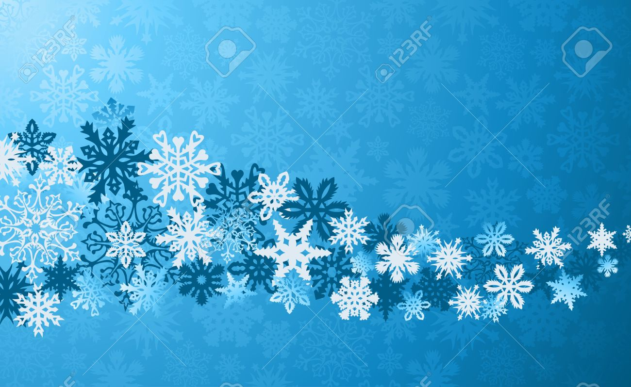 Blue Christmas snowflakes background.  illustration layered for easy manipulation and custom coloring. Stock Vector - 16105685