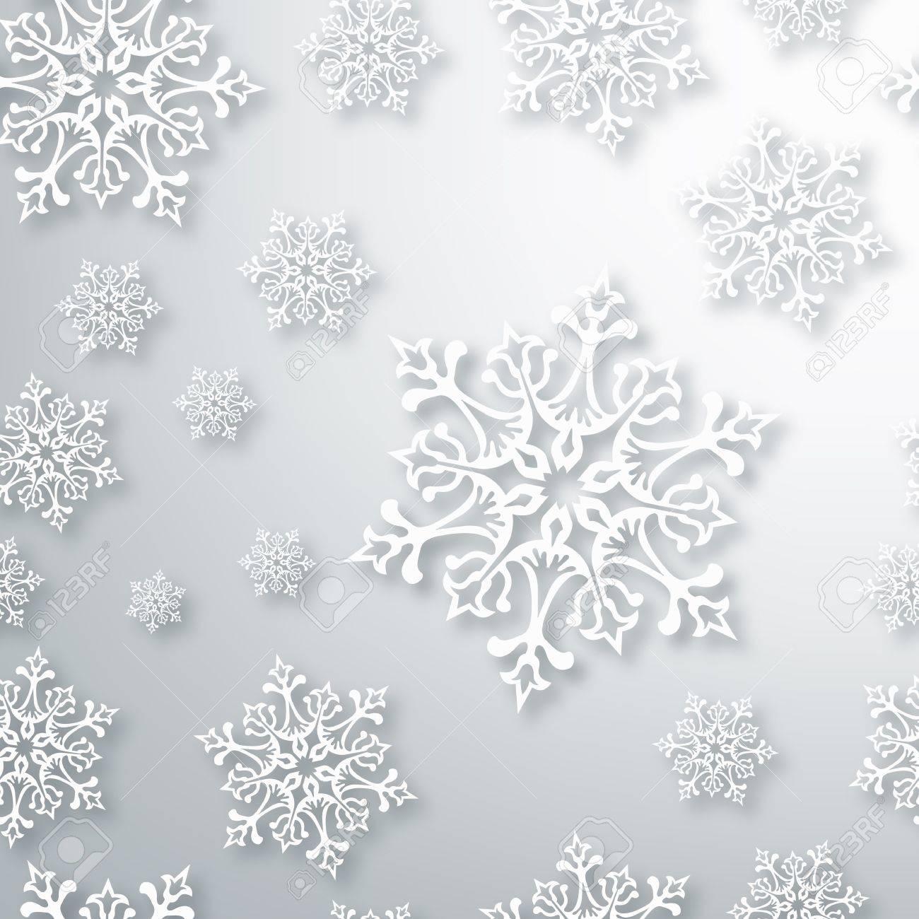 Blanca Navidad Copos De Nieve De Fondo Sin Fisuras Patrón ...