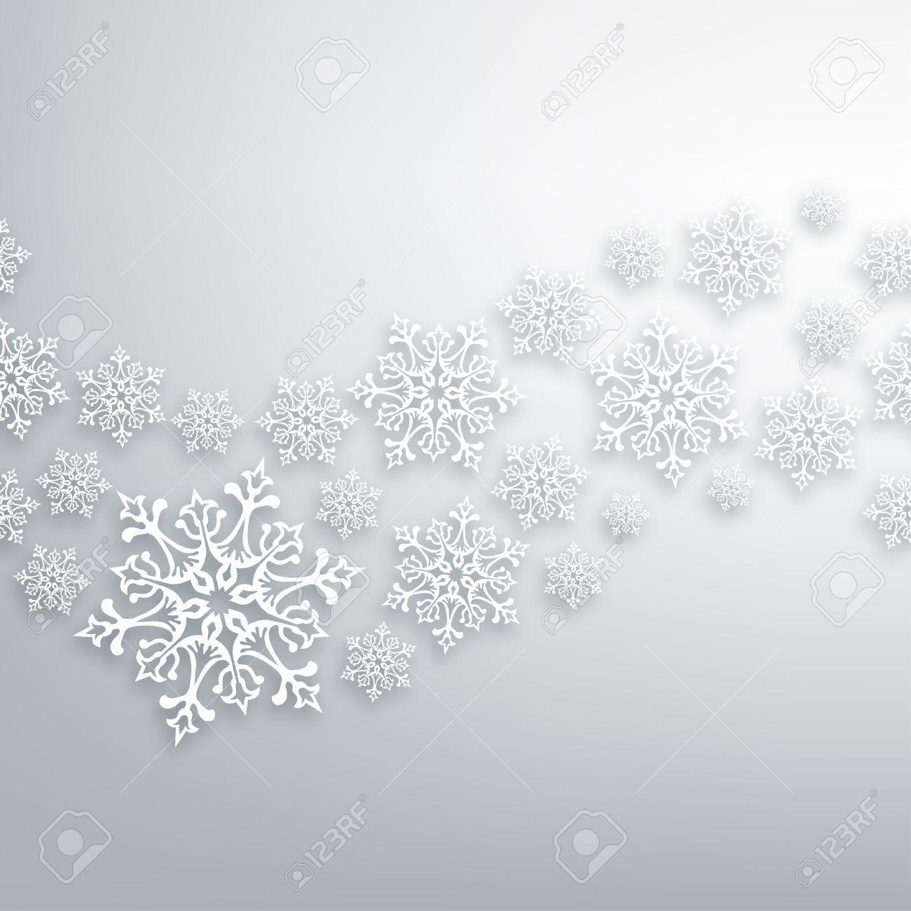 White Christmas snowflakes contemporary seamless pattern. - 16463977