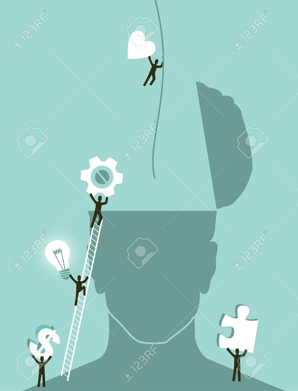 Business innovation brainstorming concept illustration  Vector layered for easy manipulation and custom coloring Stock Vector - 16907108