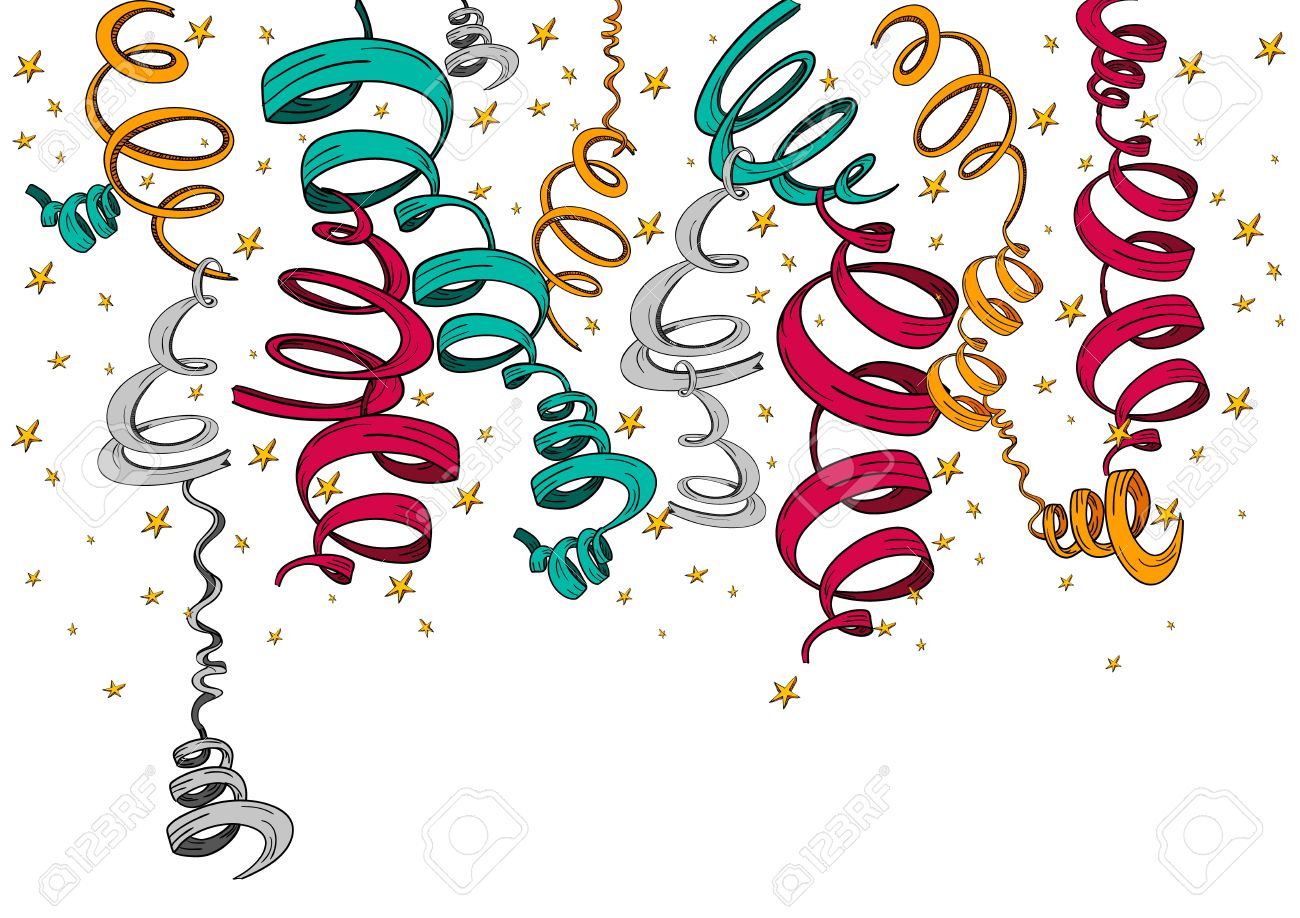 Festive days celebration with hand drawn ribbons and stars isolated. Vector illustration layered for easy manipulation and custom coloring. Stock Vector - 17876734