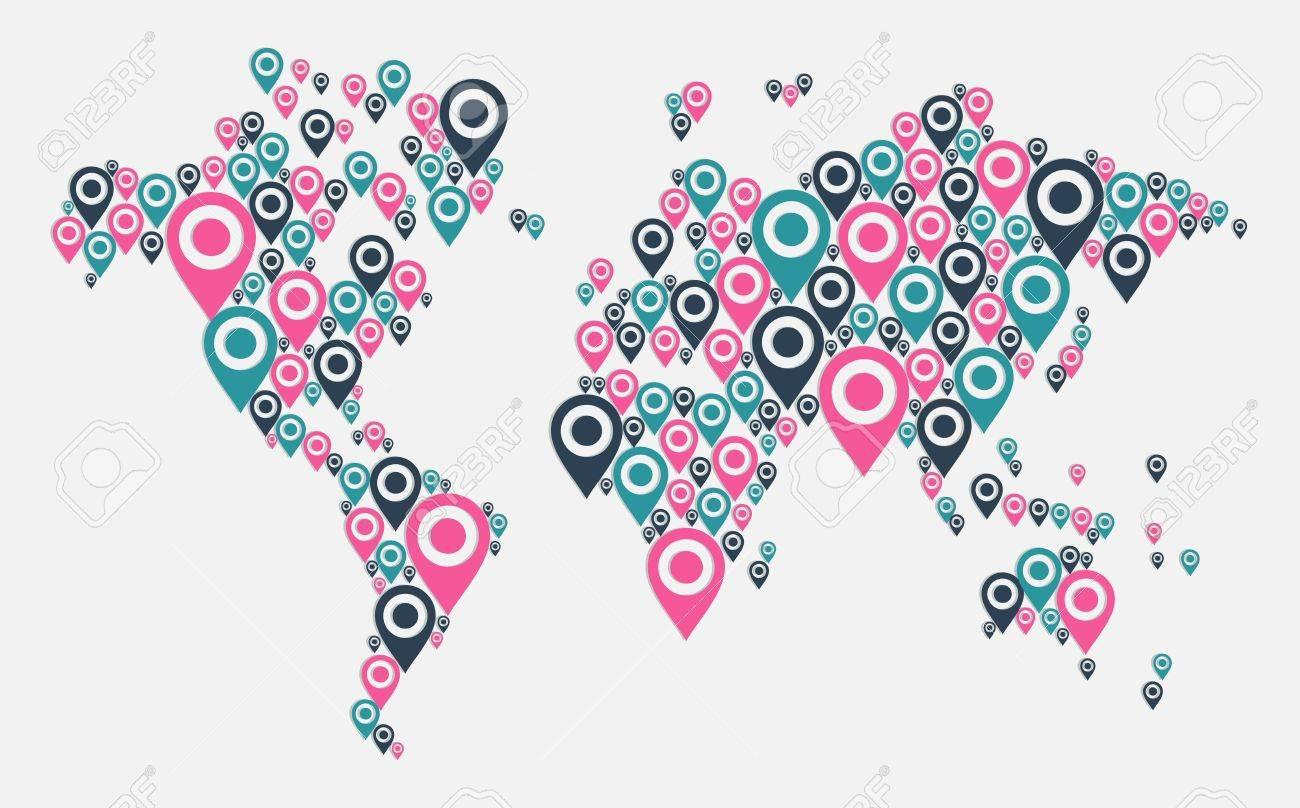 World map gps navigator icon shape file layered for easy vector world map gps navigator icon shape file layered for easy manipulation and custom coloring gumiabroncs Choice Image
