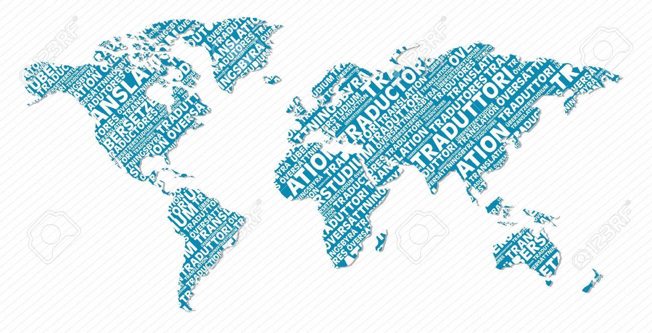 Multi language world map text shape file layered for easy multi language world map text shape file layered for easy manipulation and custom coloring gumiabroncs Choice Image