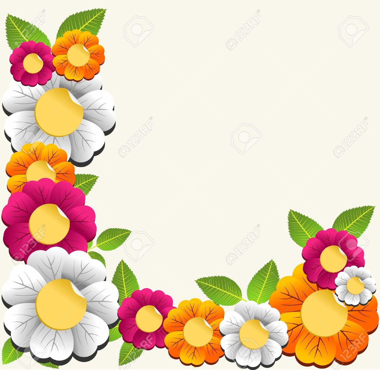 Primavera De Flores De Color Tarjeta De Ilustración De Fondo En