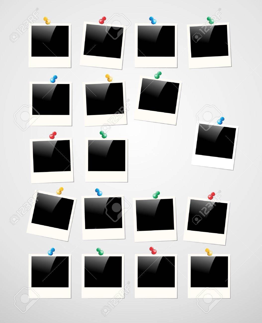 Retro Polaroid Bilderrahmen Auf Weißem Hintergrund. Vector-Datei Für ...