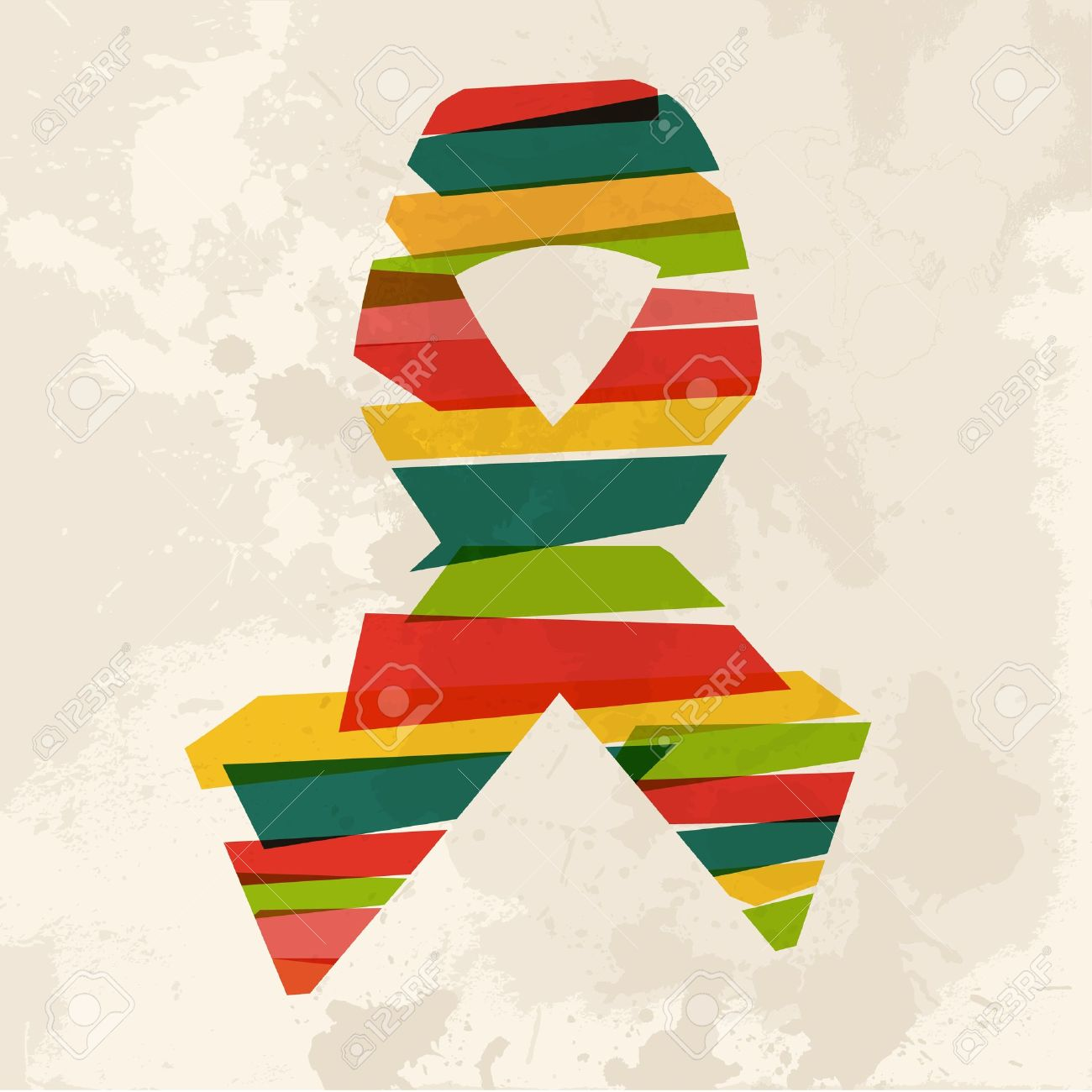 diversity colors transparent bands ribbon over grunge background