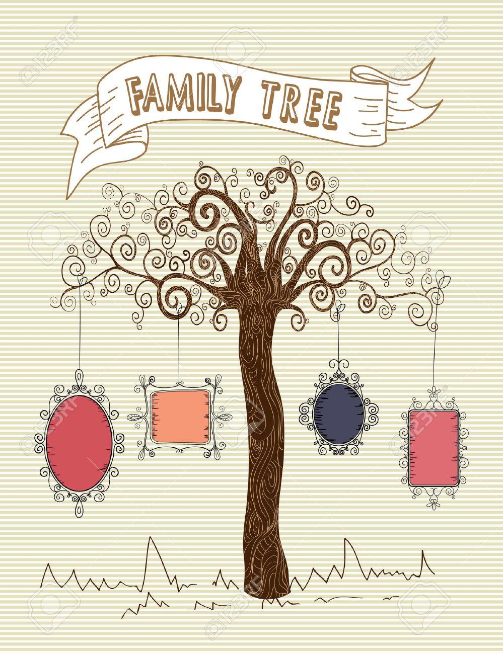 Colorful old school leaf tree stripes background design. Stock Vector - 20607474
