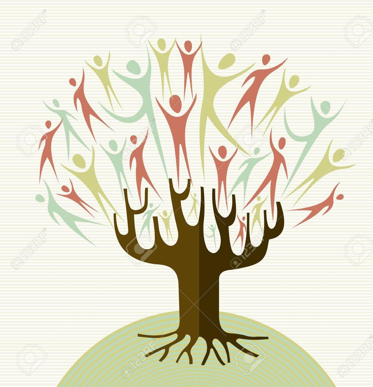 Familia Formas Humanas árbol Conceptual. Archivo De Capas Para La ...