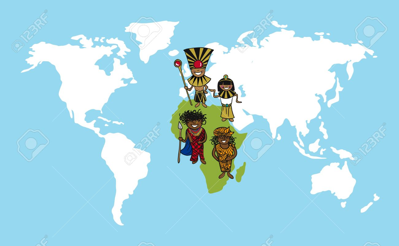 Diversity people concept world map team cartoon over african diversity people concept world map team cartoon over african continent stock vector 21280257 gumiabroncs Gallery