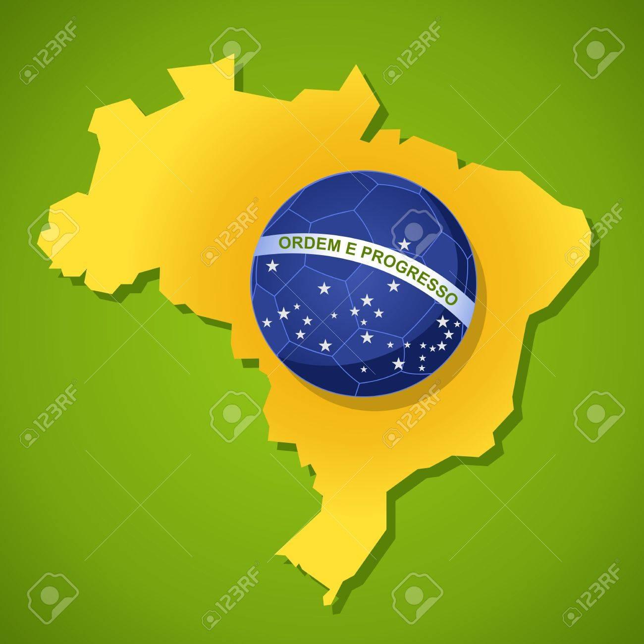 Brasilien Karte Welt.Stock Photo