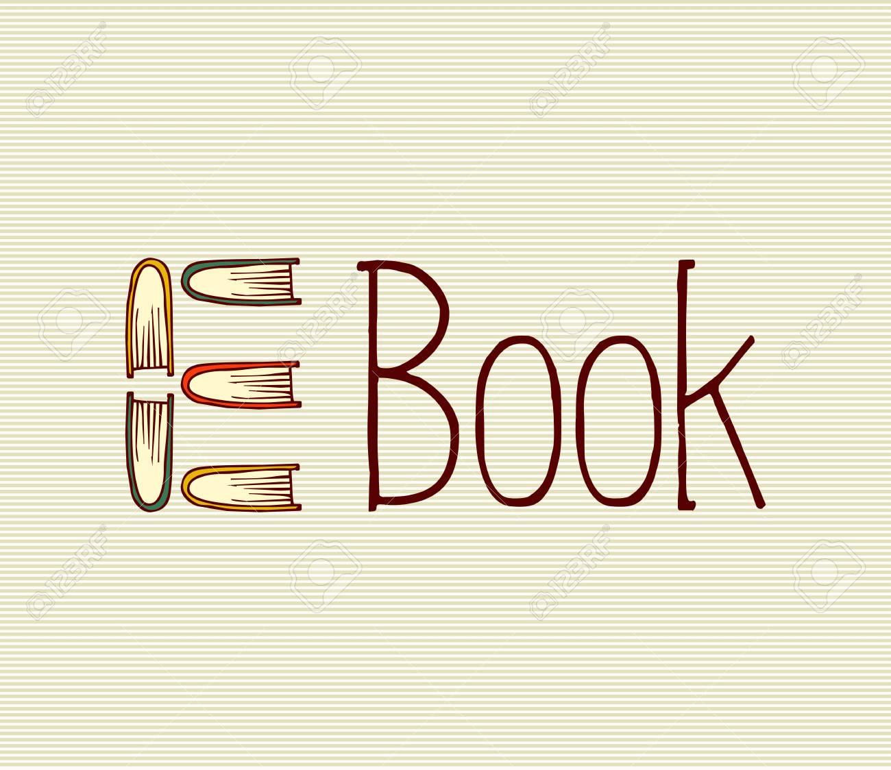 Retro electronic book text illustration. Stock Vector - 21509491