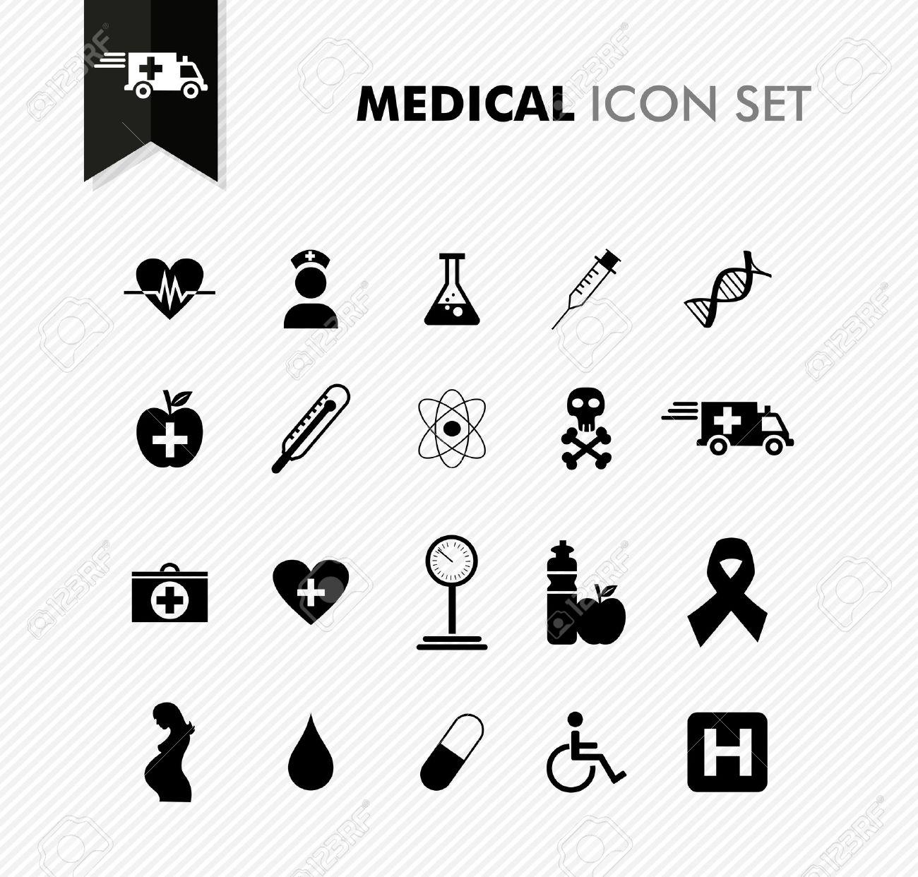 Wellness icon  Moderne Medizinische Gesundheit, Krankheit Wellness-Icon-Set. Vector ...
