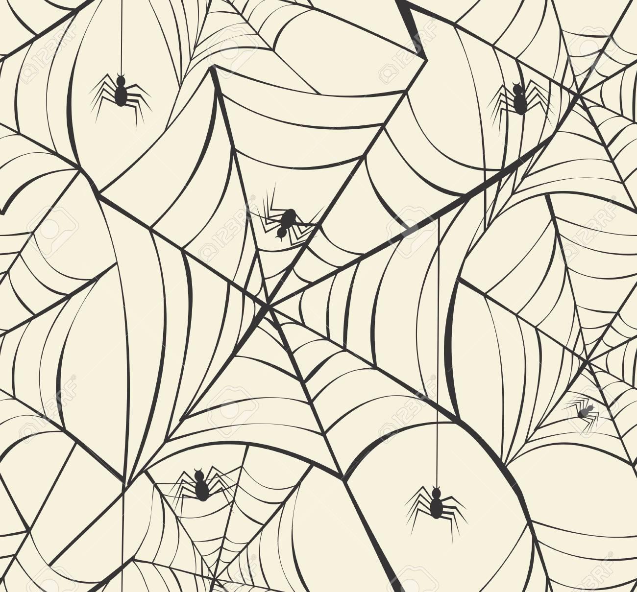 Happy Halloween spider webs seamless pattern background. Stock Vector - 22284426