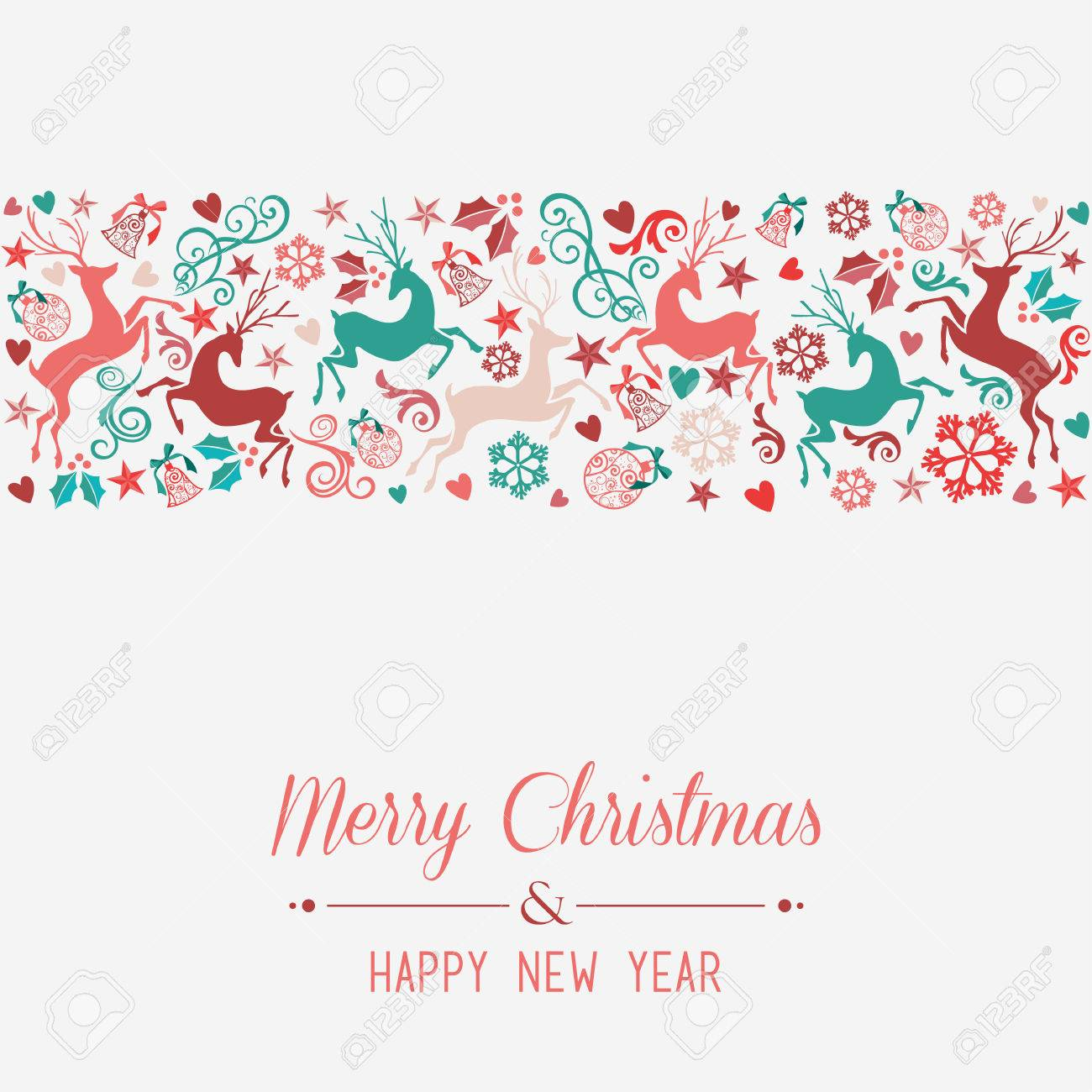 merry christmas and happy new year banner greeting card background stock vector 24078722