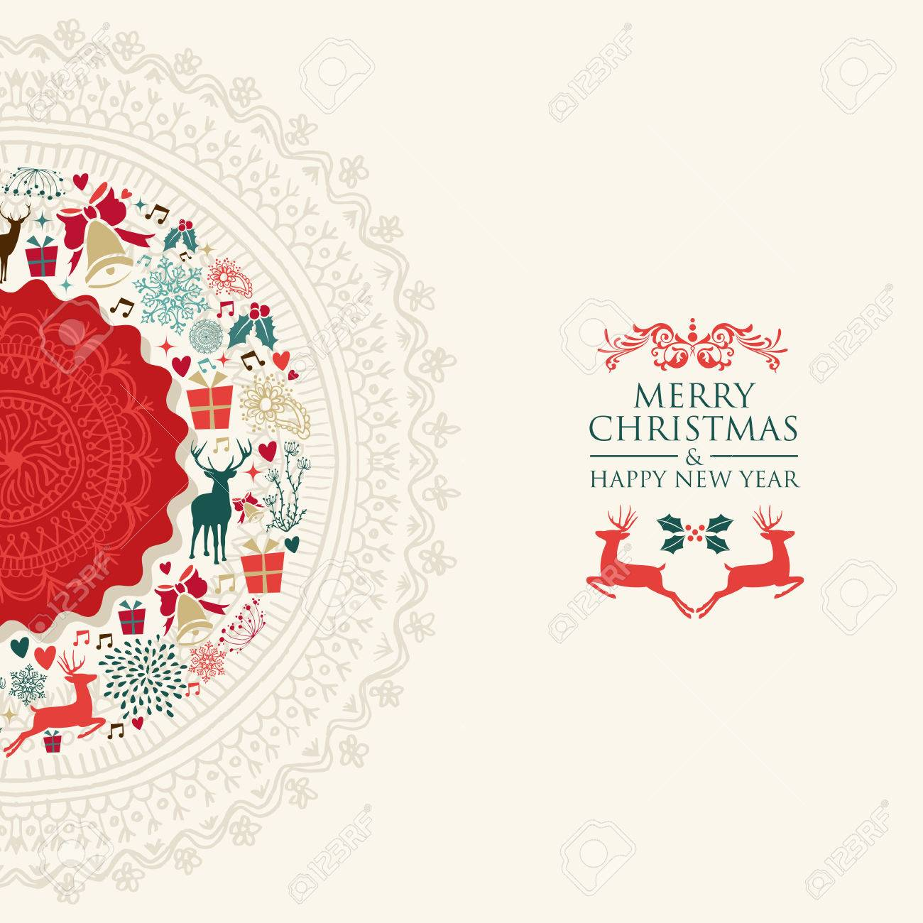 Merry christmas and happy new year greeting card eps10 vector merry christmas and happy new year greeting card eps10 vector file organized in layers for m4hsunfo