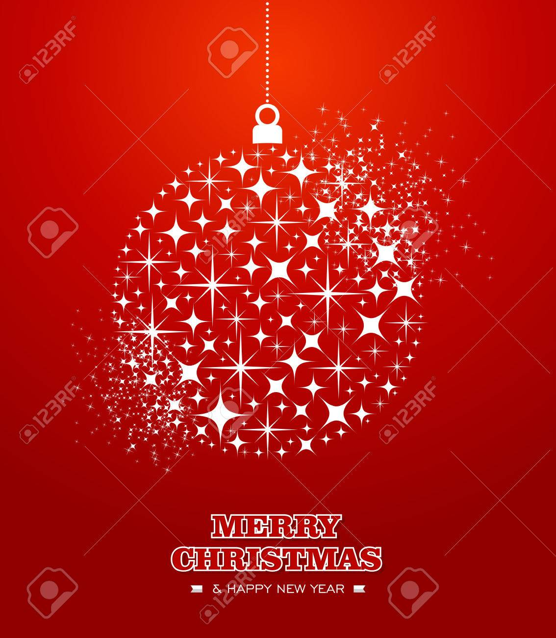 Merry Christmas And Happy New Year 2014 Contemporary Hanging ...