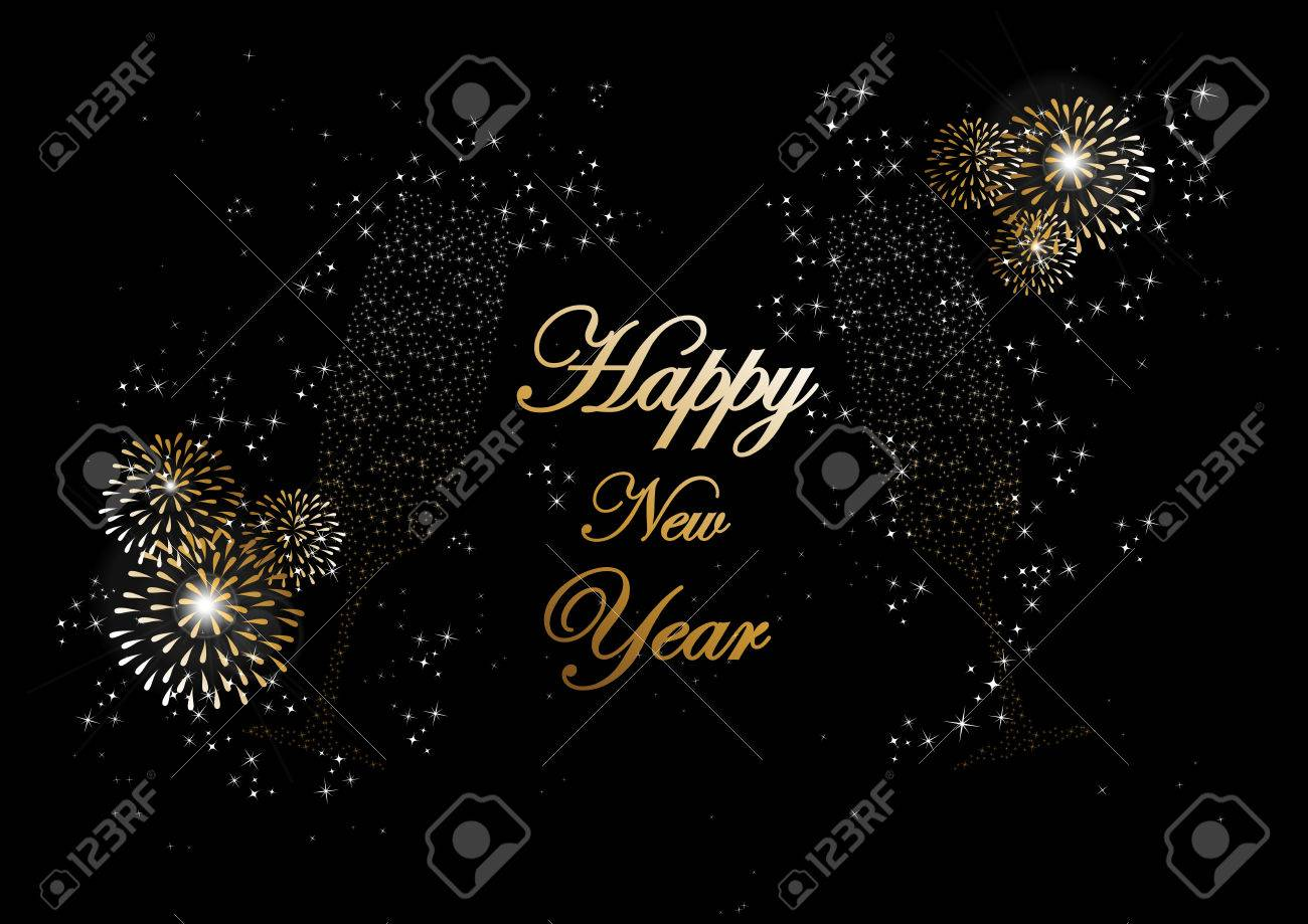 Happy new year 2014 holidays champagne flute glass with fireworks happy new year 2014 holidays champagne flute glass with fireworks sparkles greeting card background editing m4hsunfo