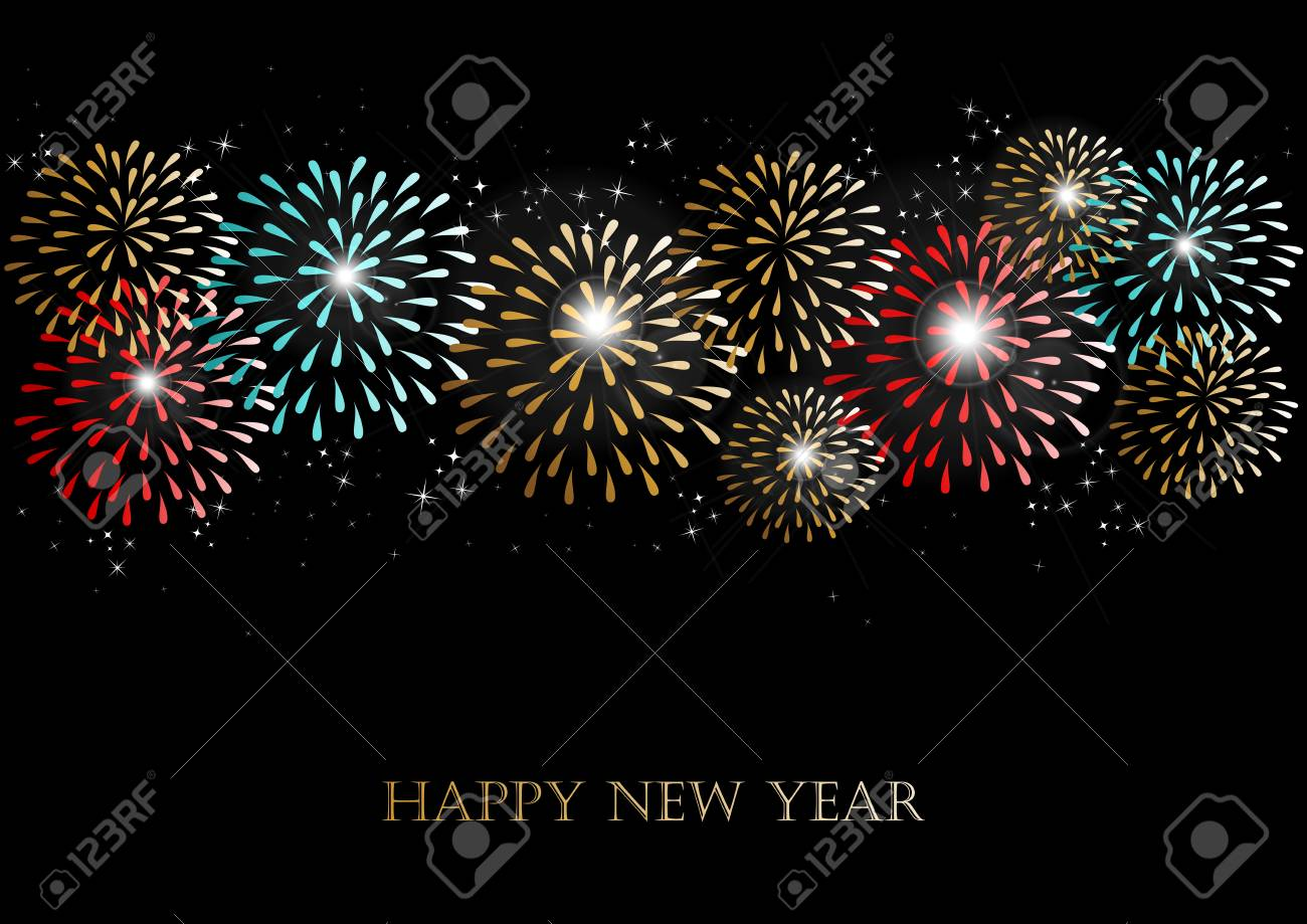 Happy new year 2014 holidays fireworks greeting card background happy new year 2014 holidays fireworks greeting card background stock vector 24753890 m4hsunfo