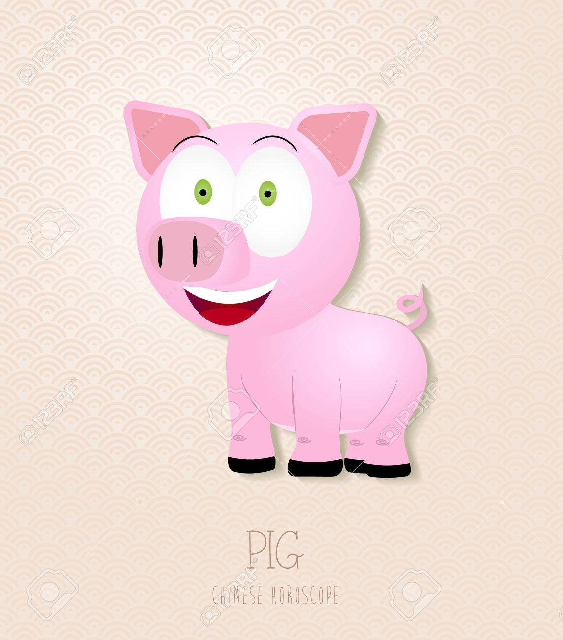 Extraordinaire 2019 Nouvelle Année Chinoise Du Porc Drôle Collection De Zodiaque &WS_79