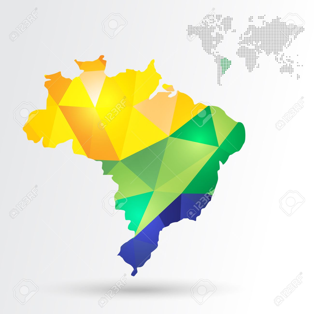 Infographic Abstract Brazil Map With Dotted Map World EPS10 – Map World Brazil